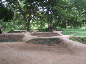 Excavated graves