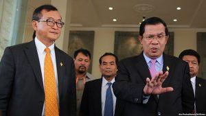 Sam Rainsy and Hun Sen