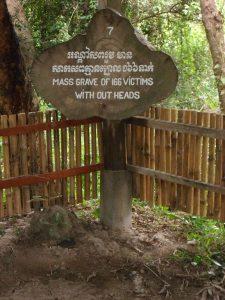 Mass grave marker